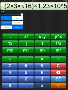 A picture that shows the Talking Calculator's default setup.