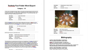 Fact Folder Summary: organized word document of sources and works cited page