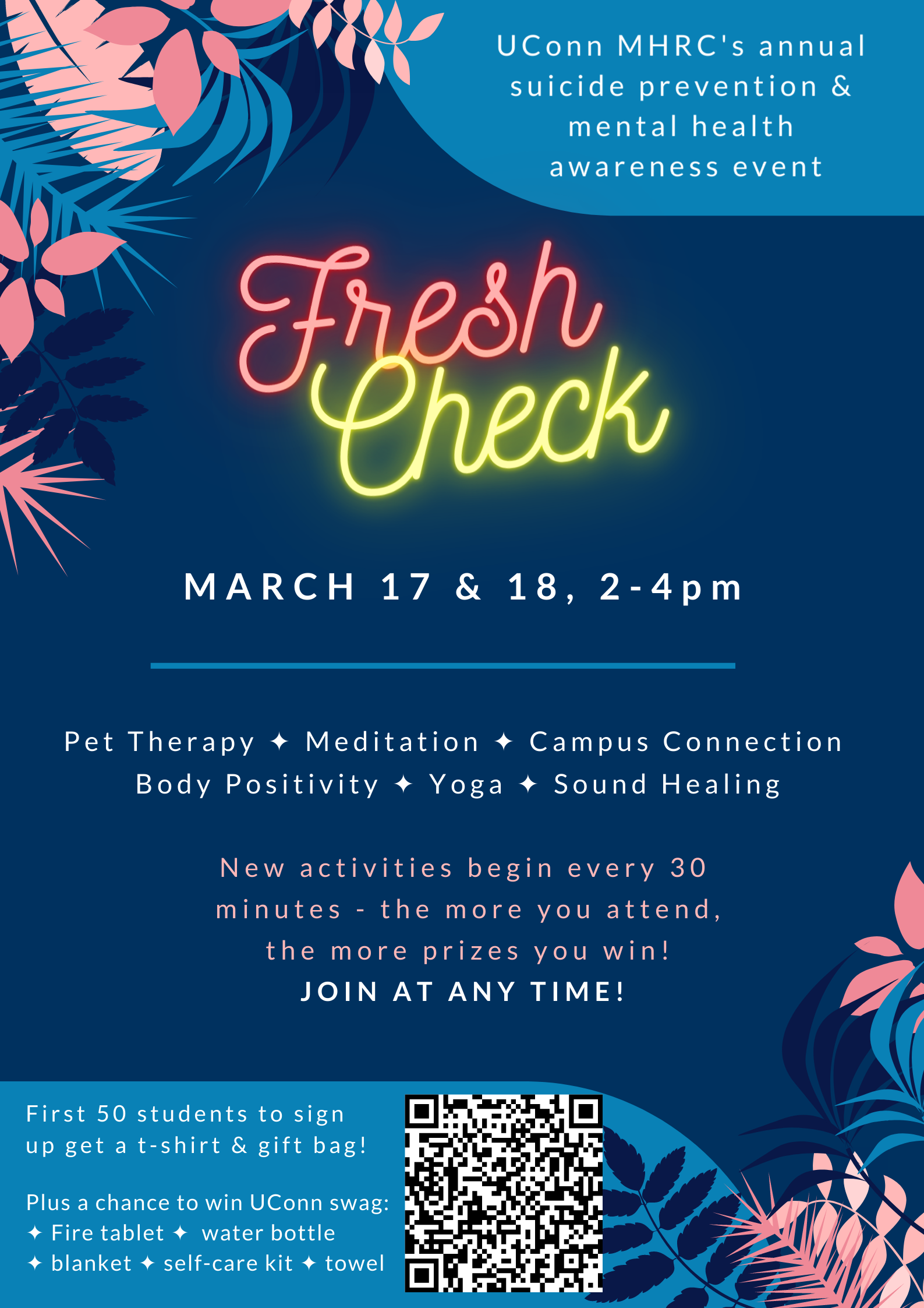Fresh Check Day March 17 & 18, 2-4pm